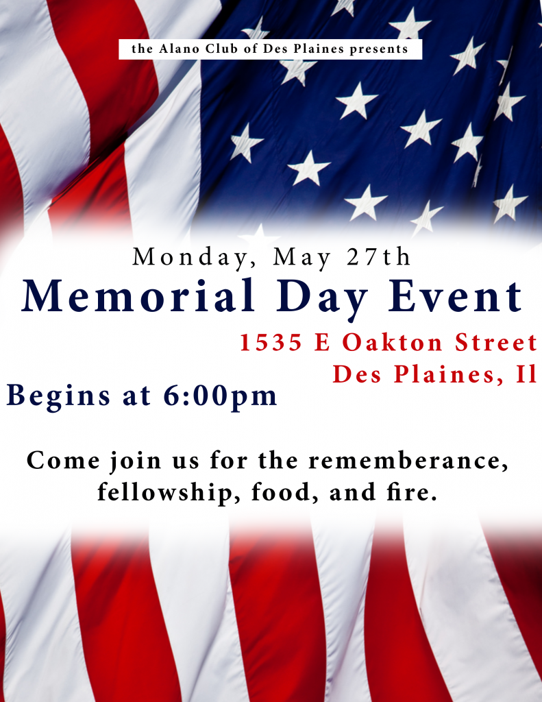 Memorial Day Event @ Alano of Des Plaines