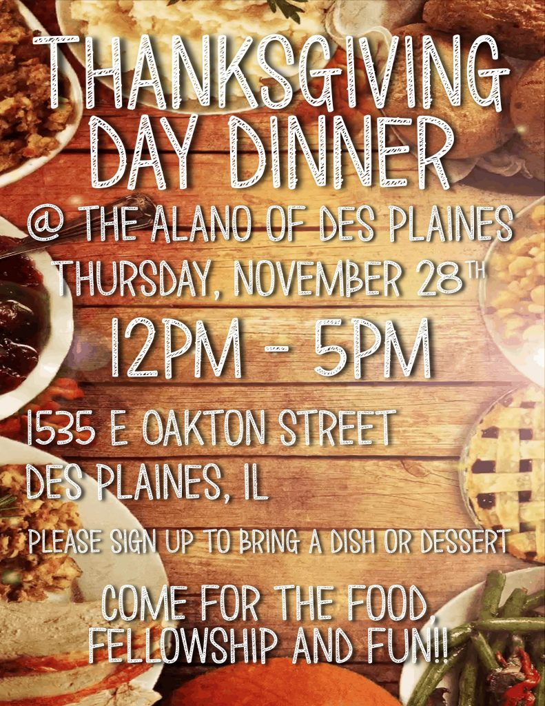 Thanksgiving Day Dinner @ Alano of Des Plaines