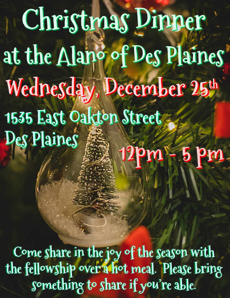 Christmas Dinner @ Alano of Des Plaines