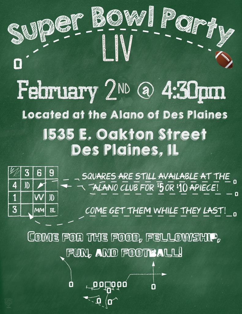 Super Bowl Party @ Alano of Des Plaines